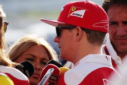 Kimi Räikkönen, Ferrari im Gespräch mit der Presse