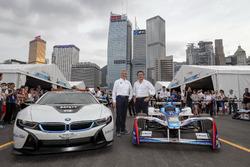 Jens Marquardt, directeur de BMW Motorsport, avec Alejandro Agag, directeur général de la Formule E