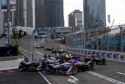 Mitch Evans, Jaguar Racing; Jose Maria Lopez, DS Virgin Racing
