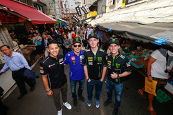 Takaaki Nakagami, Honda Team Asia; Jorge Lorenzo, Yamaha Factory Racing; Bradley Smith, Monster Yamaha Tech 3; Pol Espargaro, Monster Yamaha Tech 3