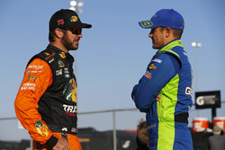 Martin Truex Jr., Furniture Row Racing Toyota, Casey Mears, Germain Racing Chevrolet