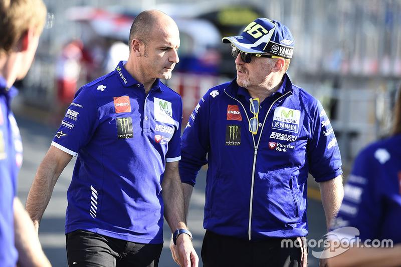 Massimo Meregalli, Director Yamaha Factory Racing Team ,  Silvano Galbusera, Yamaha Factory Racing