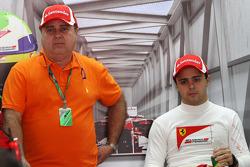 Felipe Massa, Scuderia Ferrari and his father