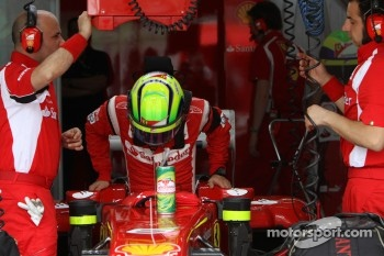 Felipe Massa tested new parts during film shoot
