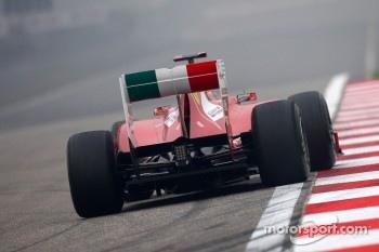 Ferrari's high rear wing