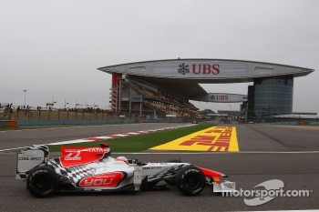 Both HRT drivers finished the race in China