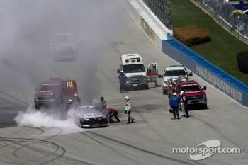 Kasey Kahne, Red Bull Racing Team Toyota wrecks