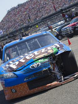 Damaged car of Kyle Busch, Joe Gibbs Racing Toyota