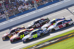 Clint Bowyer, Richard Childress Racing Chevrolet, Jeff Gordon, Hendrick Motorsports Chevrolet, Jimmi