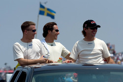 A.J. Allmendinger, Mario Dominguez and Jimmy Vasser