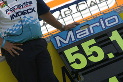 Mario Dominguez's pit board