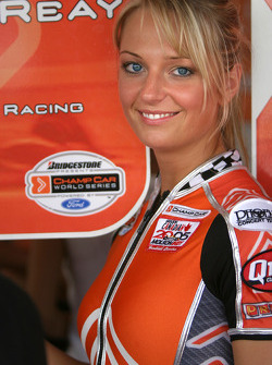 A charming Molson Indy girl