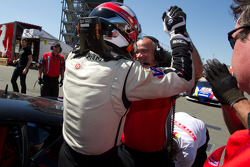 Race winner #55 Boardwalk Ferrari/Level 5 Ferrari 458 Challenge: Scott Tucker celebrates