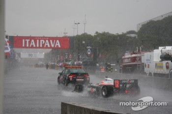 Will Power behind the safety car