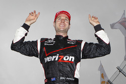 Race winner Will Power celebrates