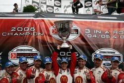 Champ Car World Series 2006 champion Sébastien Bourdais celebrates his third consecutive title with this team