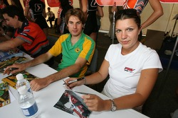 Will Power et Katherine Legge