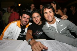 Swimwear competition: your judges for tonight, Alex Tagliani, Andrew Ranger and Bruno Junqueira