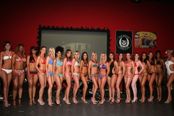 Miss Grand Prix of Houston bikini contest: the contestants pose
