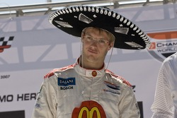 Drivers presentation: Sébastien Bourdais receives a sombrero