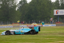 Graham Rahal through the grass