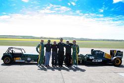 Heikki Kovalainen, Team Lotus, Tony Fernandes, Team Lotus, Team Principal, Mike Gascoyne, Team Lotus, Chief Technical Officerl, Ansar Ali, Caterham Cars, Jarno Trulli, Team Lotus