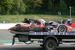 Damaged car of #36 RML HPD ARX -01d: Mike Newton, Thomas Erdos, Ben Collins