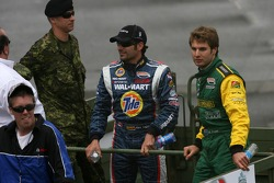 Drivers parade: Alex Tagliani and Will Power