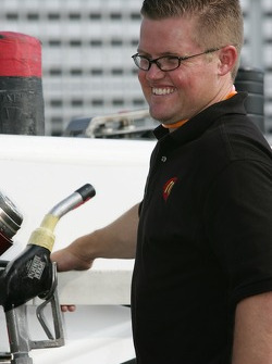 Newman/Haas/Lanigan Racing crew member at work