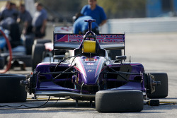 Dale Coyne Racing car sits on pit lane