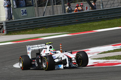 Sergio Pérez, Sauber F1 Team perdió su cono de nariz