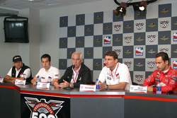 Marlboro Team Penske press conference: Rick Mears, Sam Hornish Jr., Roger Penske, Tim Cindric and He