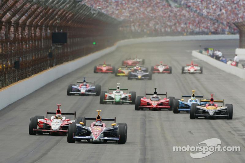 2005: Danica Patrick führt im Indy 500