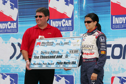 Danica Patrick accepts pole award check