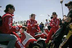 Darren Manning, Scott Dixon, Ryan Briscoe and Tomas Scheckter