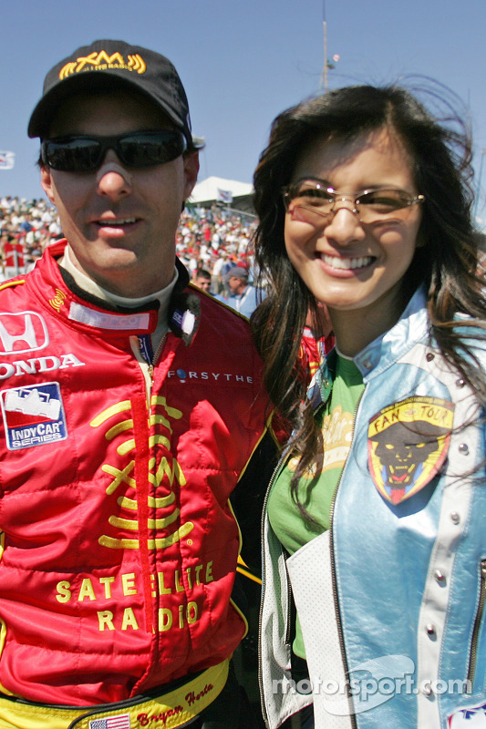 Bryan Herta and actress Kelly Hu