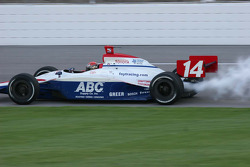 A.J. Foyt IV blows up in qualifying
