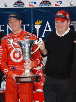 Scott Dixon and Chip Ganassi enjoy together
