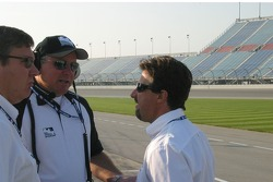 Michael Andretti visits with Brian Barnhart