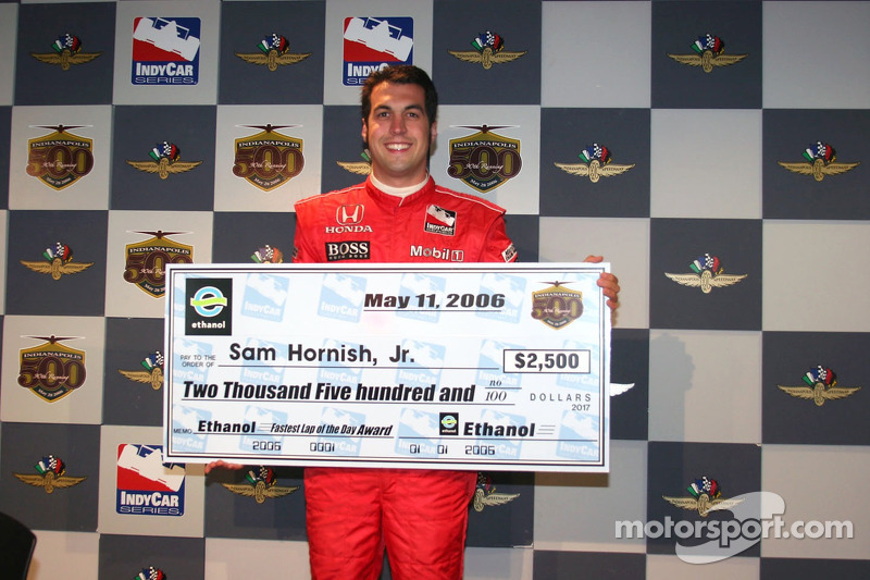 Sam Hornish Jr. Le plus rapide de la journée