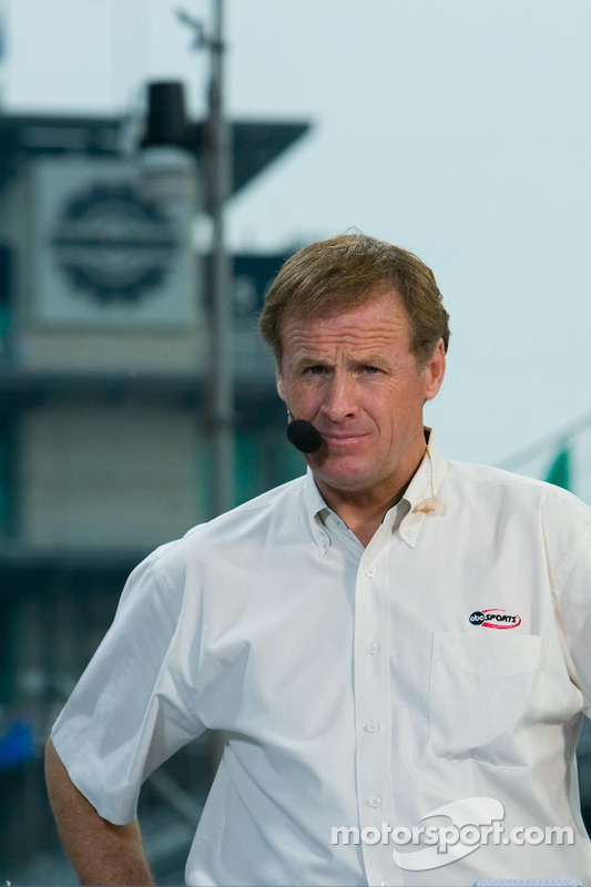 L'analiste de la chaîne ABC TV Rusty Wallace