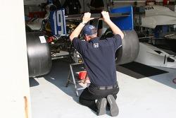 Racing Professionals crew member at work