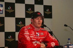 Scott Dixon conducts the fastest of the day interview