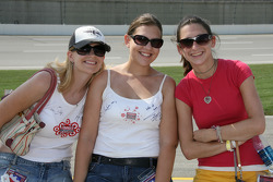 Lovely fans before riding in the pace car