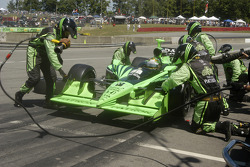 Scott Sharp pit stop wing adjustment