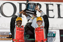 GT podium: class winners Bill Lester and Jordan Taylor