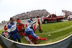 Jay Howard, Sam Schmidt-RLL Racing after his wreck