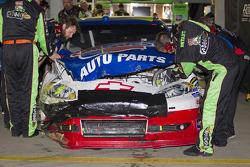 Damaged car of Mark Martin, Hendrick Motorsports Chevrolet