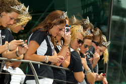 Victory circle: the Indy 500 princesses watch the celebrations