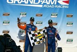Victory Lane #10 SunTrust Racing Ford Dallara: Max Angelelli, Ricky Taylor